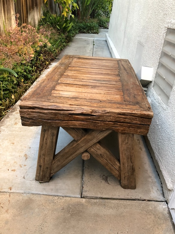 Used Indonesian Teak Table Reclaimed Wood For Sale In San Diego