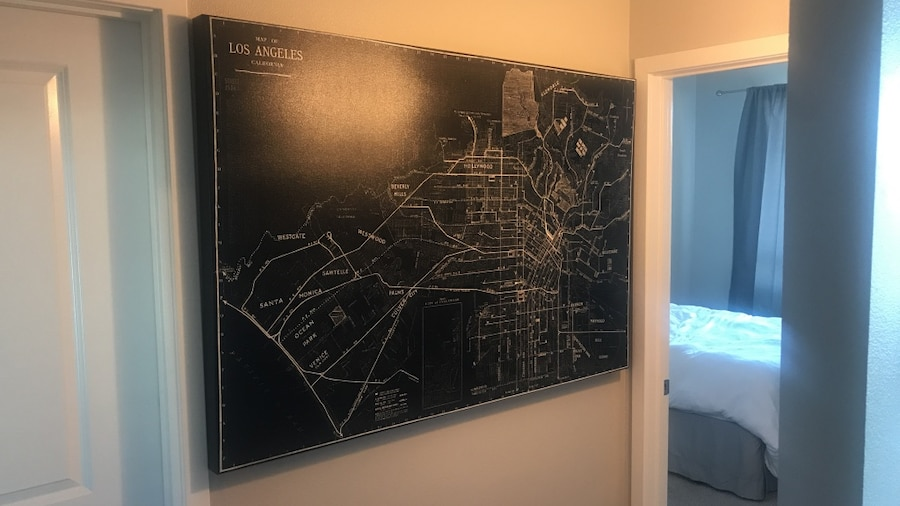 Living Spaces Huge Los Angeles Map (40x60)