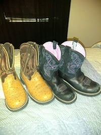 two pairs of cowboy boots