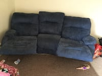 Blue color 3seater couch.good condition