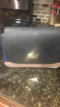 black and gray leather crossbody bag Middletown, 06457