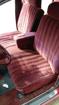 red suede car seat