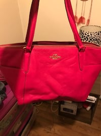 Coach Pink Ava Leather Tote