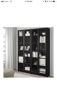 IKEA bookshelves/w glass doors Kitchener, N2G 3B6