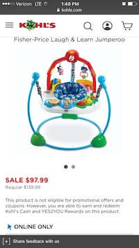 Fisher-Price laugh and learn jumperoo screenshot