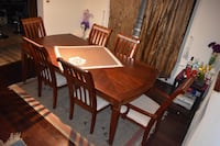 TheBrick-Rectangular Brown Wooden Dining Table Set w. Six Chairs Richmond Hill, L4C 8Y6
