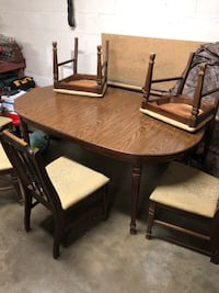 brown wooden dining table set Nashville