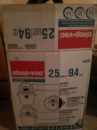 Small shop vac. 2.5 gallon. Used twice. Like new