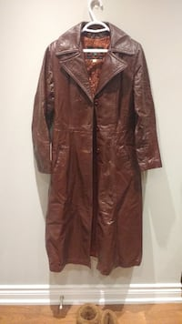 $25 Genuine Leather Trench Coat with Sash Belt Toronto