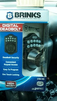 brinks digital deadbolt  BRAND NEW