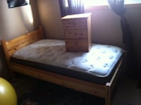 Solid Pine Twin Bed Frame & Night Stand EDMONTON
