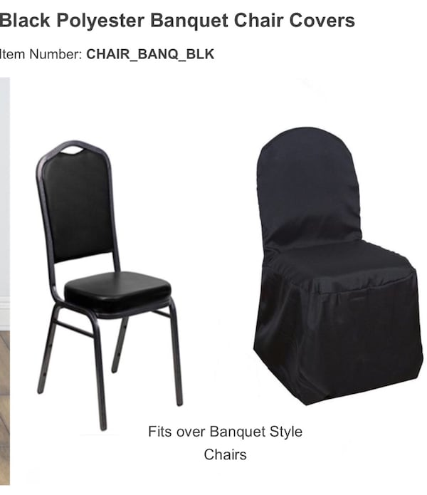82 black banquet chairs (cash only) New great buy 57a1bccc-64ee-43a2-b930-aeec79d7772c