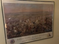 """Anheuser Busch print """"Custer's Last Fight"""" Arnold, 63010"""