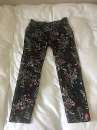 black and pink floral pants Calgary, T2Y