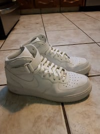 All white Nike Air force 1s Langley, V3A 3X6