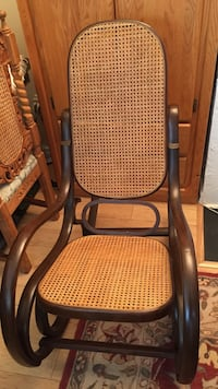 brown wooden frame rocking chair New Westminster, V3L 3P1