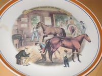 """Trotting Cracks At The Forge"" Collector Plate - Horse Calgary"