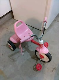 toddler's pink and red trike Ames, 50010