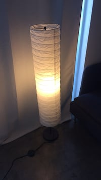 white and brown floor lamp null