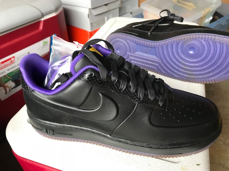 2011 Nike Air Force 1 Foamposite Low KOBE BRYANT (NEW) PURPLE Mens 10 1699894a-6833-486d-8c5d-d7a975a8efdb