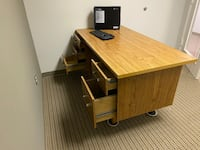Study desk with drawers