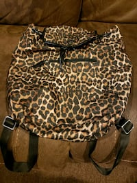 Coach brown and black leopard handbag New York
