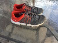 Pair of black-and-red Reebok running shoes Mississauga, L5M 6G6