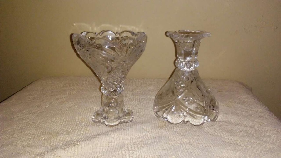 Used crystal candle holders in pensacola for Used candle holders