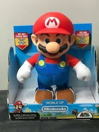 JAKKS Pacific World of Nintendo Super Mario Super Jump Mario Action Figure  Super Mario Brothers BRAND NEW!!!  Price is Firm! Just a couple left and they will be gone.  If your child is a fan of classic video games, they'll be jumping for joy when they re Toronto