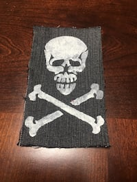 hand made skull and crossbones sew on patch Langhorne, 19047