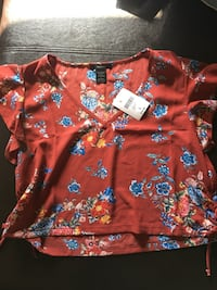 Red and Blue Floral Forever 21 Shirt Oneonta, 13820