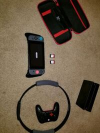 Nintendo switch plus 2 games and accessories