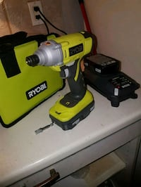 Ryobi impact gun with extra battery and charger Calgary, T2T