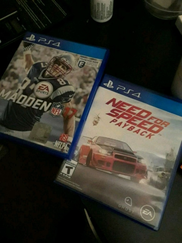 Madden 17 and Need for speed (10 for each) 14877b97-88bd-4ac8-b1dd-ea1eba7adac5