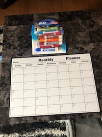 Magnetic Dry Erase Calendar and Markers