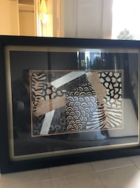 White and black zebra painting. Excellent condition