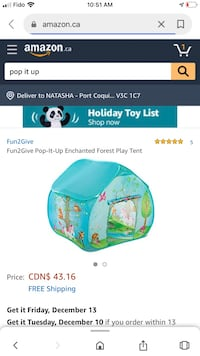 Boy and girl play tents