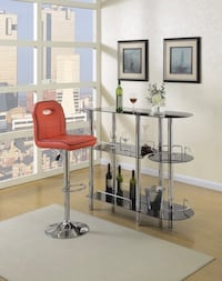 2 PCS BAR STAND AND STOOL