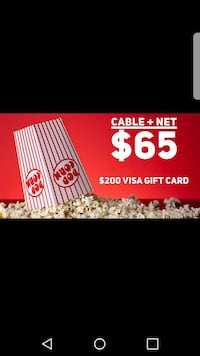 Free visa gift card for just getting tv and intern Saginaw, 48602