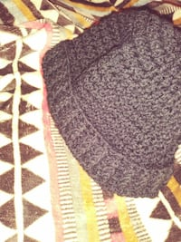 Black Crochet hat by me