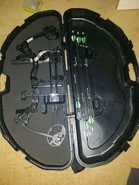 black and green compound bow set in case St. Albert, T8N 7H9