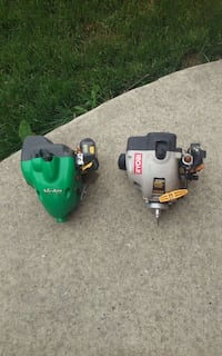 two green and black gas string trimmers Edmonton, T5Z 2T1