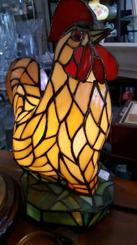 Rooster Stained Glass Lamp  Niagara Falls