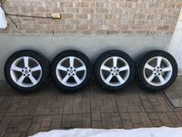 """215/60/17 General Altimax Arctic winter tires with 17"""" mags"""