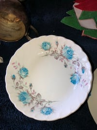Antique, Cranberry Dishes, marked Burgess and Leigh 1851 47 km