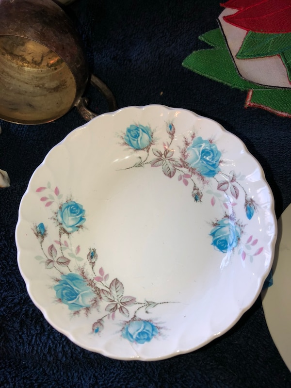 Antique, Cranberry Dishes, marked Burgess and Leigh 1851
