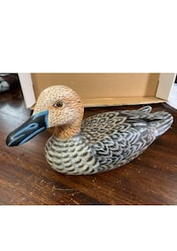 "Beautiful Hand Painted, Carved Wooden Duck F Decoy Carved 10"" x 6"" Vaughan, L4L 9N3"