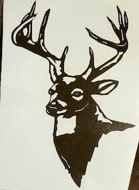 Deer decal 8 tall x 5-1/2 wide Louisville