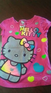 Pink and teal hello kitty cap sleeve shirt Northfield, 05663