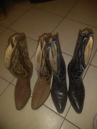 Two pair of cowboy boots  North Las Vegas, 89032
